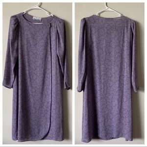 Dresses & Skirts - Vintage 60s mod 70s 80s purple wrap tent dress